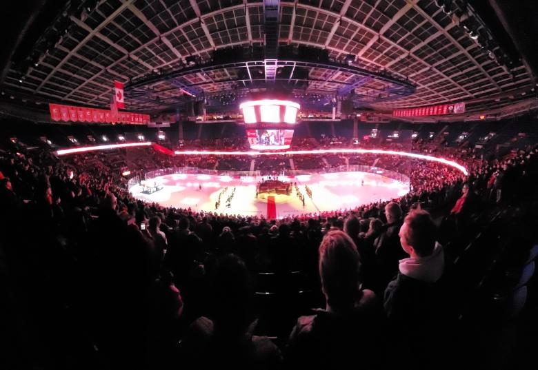 Inside the Saddledome. Photo Credit: Brian Wong Calgary