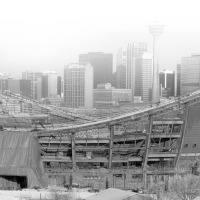 Calgary's Skyline in 1982 (from Scotsman's Hill)